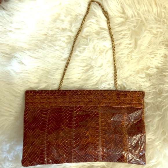 Handbags - VINTAGE SNAKE CLUTCH PURSE